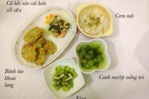 21 thực đơn dành cho bé 1 tuổi đã ăn cơm