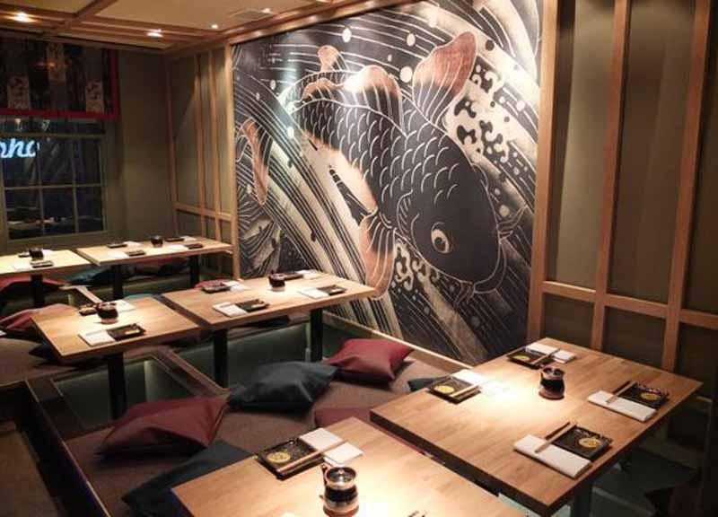 thiết kế nhà hàng Nhật