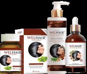 Bộ sản phẩm Welhair - Giải pháp ngăn ngừa tóc gãy rụng hiệu quả