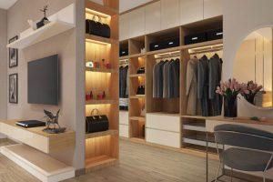 Thiết kế phòng thay đồ tiết kiệm không gian, tiện dụng